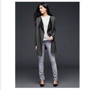Gap• French terry charcoal wrap jacket